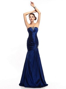 The Super Hot Strapless Mermaid Prom Dress With Beading