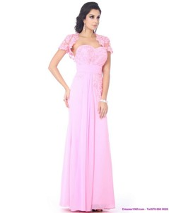 Cute Beading Sweetheart Ruching Prom Dress In Baby Pink
