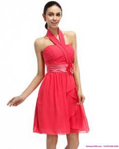 Halter Top Prom Dress With Ruching