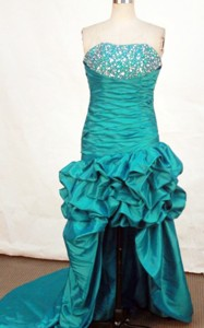Brand New High-low Strapless Mini-length Beding Prom Dress