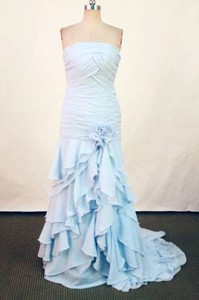 Affordable Column Strapless Floor-length Gray Prom Dress Style Fa-c-179