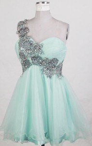 Exquisite One Shouldert Neck Mini-length Prom Dress