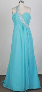 New Empire One Shoulder Neck Brush Prom Dress