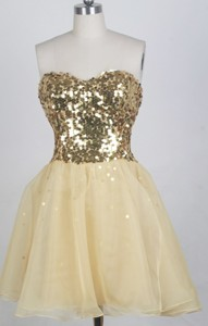 Lovely Empire Sweetheart Neck Mini-length Prom Dress