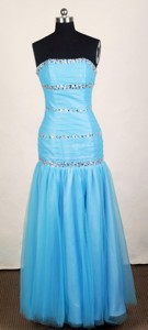 Popular Empire Strapless Mini-length Prom Dress