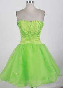 Popular Short Strapless Mini-length Prom Dress