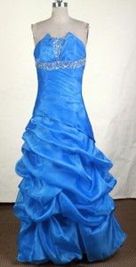 Modest Empire Strapless Floor-length Prom Dress