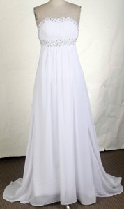 Affordable Empire Strapless Brush Prom Dress