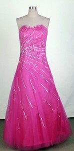 Pretty Sweetheart Floor-length Hot Pink Prom Dress