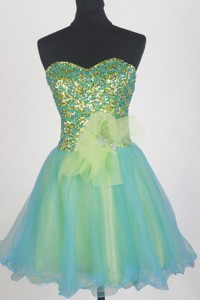 Pretty Short Sweetheart Mini-length Prom Dress