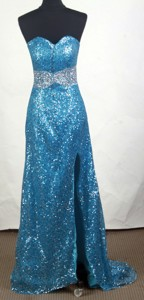 Sexy Empire Sweetheart Brush Teal Prom Dress