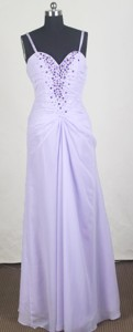 Affordable Empire Straps Floor-length lilac Prom Dress