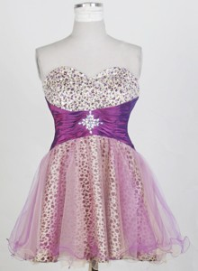 New Short Sweetheart Neck Mini-length Prom Dress