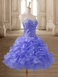 Best Selling A Line Short Prom Dress with Beading and Ruffles