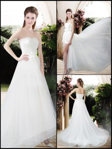 Exclusive Empire Sweetheart Wedding Dress With Brush Train