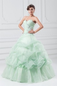 Beading Sweetheart Organza Quinceanera Dress