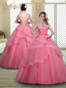 Elegant Backless Quinceanera Dress With Beading