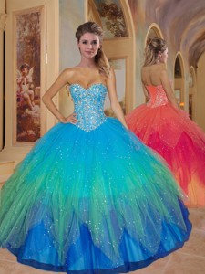 Special Sweetheart Beading Quinceanera Dress In Multi-color