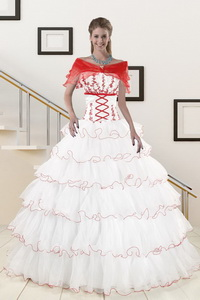 Pretty Ruffeld Layers Quinceanera Dress With Strapless
