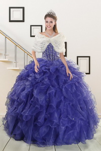 Pretty Sweetheart Quinceanera Dress With Sequins And Ruffles