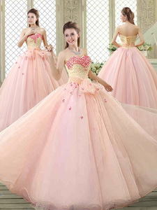 Popular Sweetheart Beading Quinceanera Dress With Bowknot And Appliques