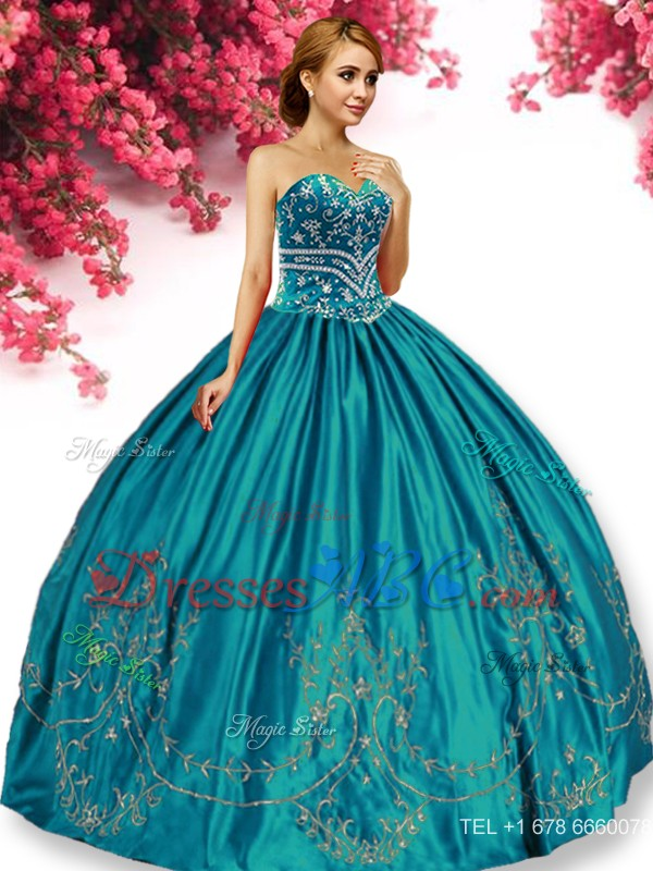 9e8a341ce0f Elegant Big Puffy Turquoise Quinceanera Dress with Beading and Appliques