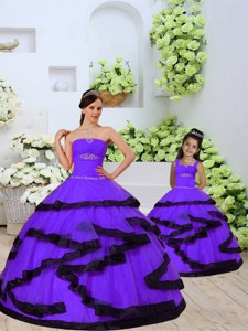New Style Beading And Ruching Organza Lavender Princesita Dress