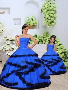 Most Popular Beading And Ruching Royal Blue Princesita Dress