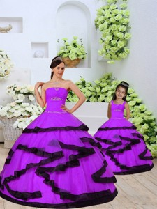 Top Seller Beading And Ruching Princesita Dress In Eggplant Purple