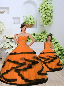 Unique Beading And Ruching Princesita Dress In Orange
