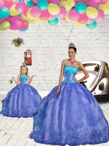 Most Popular Blue Princesita Dress With Beading And Embroidery