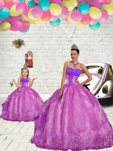 Modern Beading And Embroidery Princesita Dress In Fuchsia