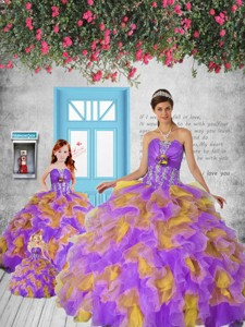 Remarkable Appliques And Ruffles Colorful Princesita Dress