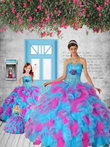 Multi-color Appliques And Ruffles Princesita Dress Party