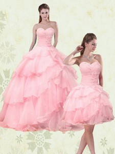 Cute Sweetheart Beaded Quinceanera Dress With Ruffled Layers