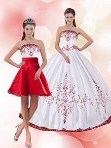 Pretty Strapless Perfect Quinceanera Dress With Embroidery