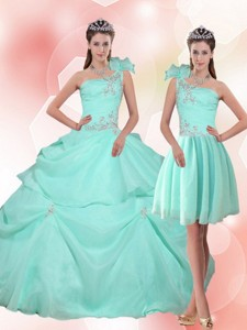 New Arrival Apple Green Quinceanera Dress With Appliques