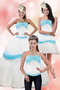 Elegant Strapless Ball Gown Quinceanera Dress With Appliques