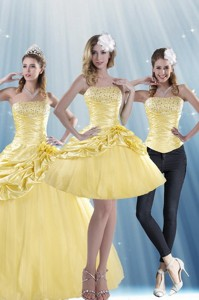 Brand New Strapless Strapless Beading Quinceanera Dress