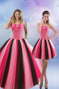 Beautiful Beading Quinceanera Dress In Multi Color