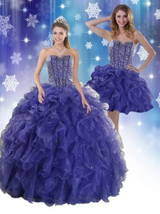 The Most Popular Royal Bule Quinceanera Dress With Beading And Ruffles