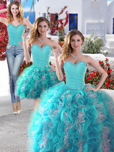 Best Selling Big Puffy Detachable Quinceanera Dress With Beading And Ruffles