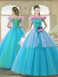 Classical Off the Shoulder Quinceanera Gowns with Ruffles and Bowknot