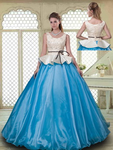 Classical Ball Gown Scoop Quinceanera Dress With Beading