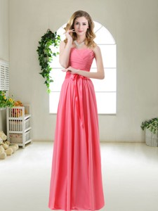 Discount Bridesmaid Dress With Sashes And Ruching