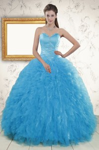 Remarkable Beading Quinceanera Dress In Baby Blue