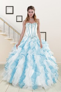 Appliques And Ruffles Quinceanera Dress In Multi-color
