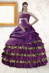 Classic One Shoulder Quinceanera Dress With Beading And Leopard