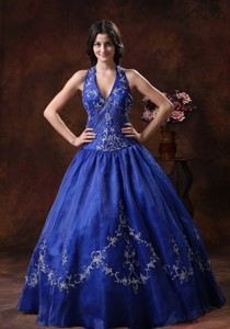 Halter Prom Dress With Embroidery Decorate Organza In Wickenburg Arizona