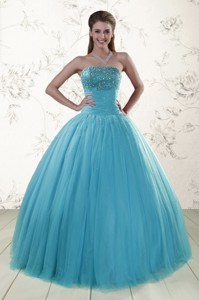 New Style Sweetheart Baby Blue Quinceanera Dress With Appliques